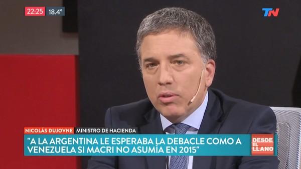 """Nicolás Dujovne: """"Sin Macri, a la Argentina le esperaba una debacle como la de Venezuela"""""""