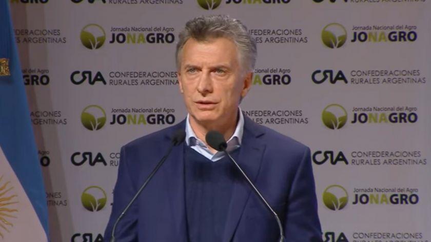 Mauricio Macri: «Más que nunca los argentinos necesitamos de ese empuje y esa tenacidad del campo»