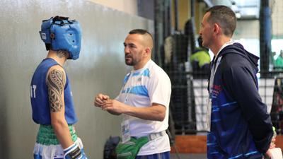 Omar Narváez proyecta el boxeo junto a Chubut Deportes