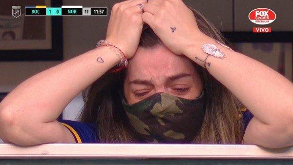 Murió Diego Maradona: el llanto desconsolado de Dalma en la Bombonera tras el primer gol de Boca