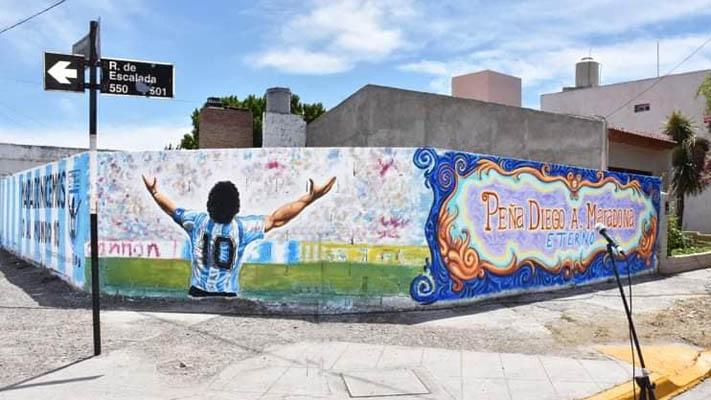 """La Peña """"Diego Maradona Eterno"""" en una nueva actividad social"""