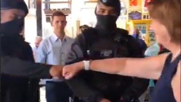 Habló uno de los policías que saludó a Patricia Bullrich y planteó una versión que no coincide con el video