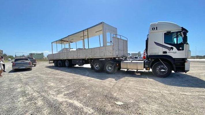 El hospital modular llegó a Madryn para su ensamblaje